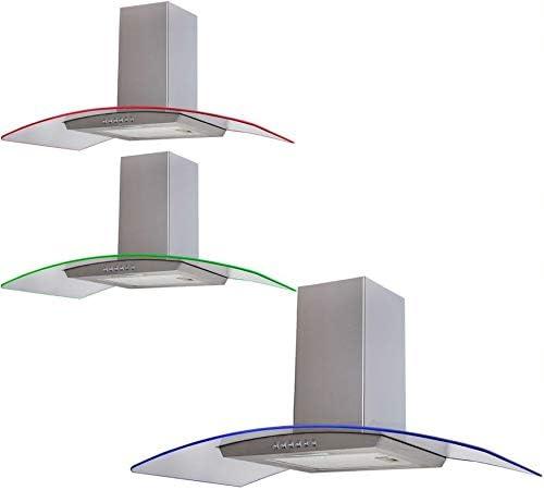 Sia cple91ss 90 cm 3 Color LED cocina de acero inoxidable para campana extractora: Amazon.es: Grandes electrodomésticos