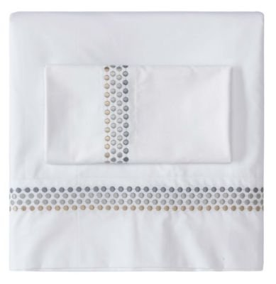 Company C Jewels Size Sheets and Pillow Cases Set, Queen, Platinum