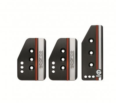 Sparco 037879IOP01 PEDAL SET SETTANTA BLACK by Sparco