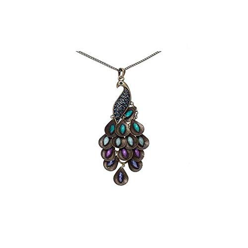 A&C Vintage Bohemia Blue Peacock Pendant Necklace Jewelry for Women, Hot Sell Indian Torque for Girls.