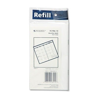 AT-A-GLANCE Recycled Monthly Refill for 70-064, 3 x 6 Inches, 2013 (70-906-10) (Recycled Monthly Refill)