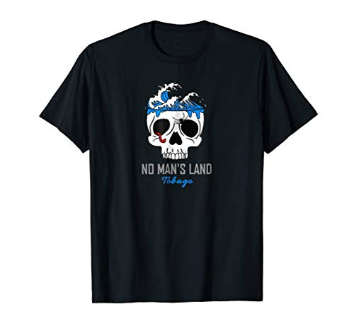Cool No Man's Land Tobago Pirate Surf T-Shirt with Skull