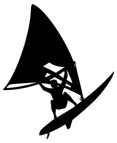 (Windsurfer Windsurfing - Sticker Graphic - Auto, Wall, Laptop, Cell, Truck Sticker for Windows, Cars, Trucks)