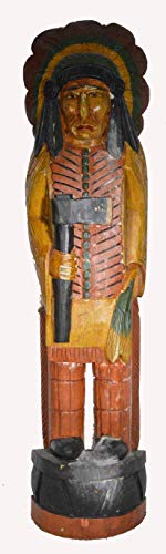 WorldBazzar Cigar Indian Axe Huge Hand Crafted Wooden Sculpture Cowboys Horseshoes Shotgun Old west Hunting Scratch and Dent Sale (Sale Horse Wooden Sculptures)