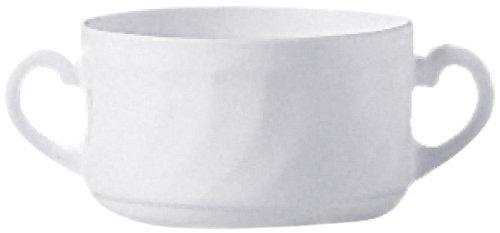 Esmeyer 441-040 6er Pack Suppentasse obere  mit einem Fassungsvermögen von 0,32 ltr  Hartglas