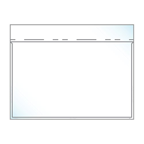 6'' x 9.5'' Envelope Crystal Clear - Booklet Style, Auto-Insertable (5.5″ x 8.5″ Insert Size) - Box of 1,000 by EnvyPak