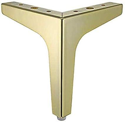 la mesa de centro de las patas del sof/á BCX Las patas met/álicas para muebles X4 los pies las patas de repuesto doradas las patas de soporte de las patas de la cama la suela de goma transparente