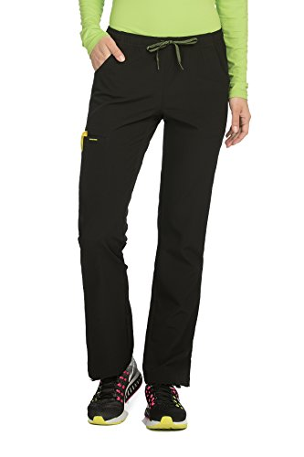 Meds Collection (Med Couture Women's 'Air Collection' Cloud 9 Scrub Pant, Black/Apple, Medium)