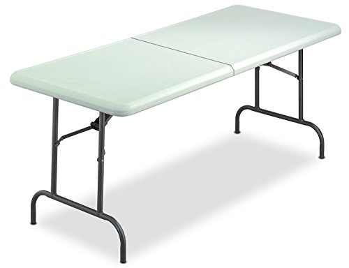 Iceberg 65453 IndestrucTable TOO Bi-Fold Folding Table, 30''x60'', Platinum (Made in USA) by Iceberg