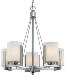 - Dolan Designs 2240-09 Uptown 5 Light Chandelier, Satin Nickel