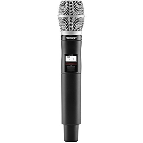 Shure QLXD2 Handheld Wireless Microphone Transmitter with SM86 Cartridge, G50 470-534 MHz - Sm86 Condenser Microphone