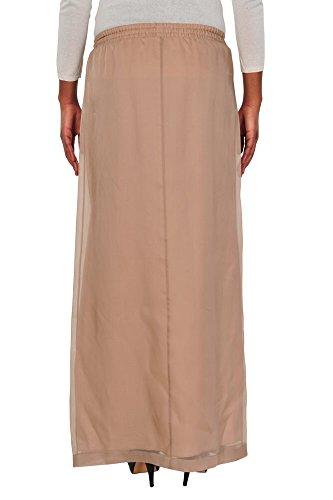 Brunello Cucinelli Falda mujer Maxi-falda Un sólo Color 44 IT Marrón claro