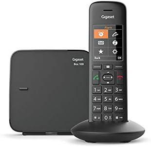 Gigaset C570 - Teléfono (Teléfono DECT, Terminal inalámbrico, Altavoz, 200 entradas, Identificador de Llamadas,Sin Contestador, Negro)