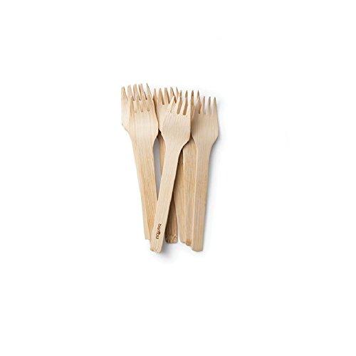 bambu, Veneerware Disposable Bamboo Forks - Pack of -
