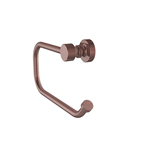 Allied Brass FT-24E-CA Foxtrot Collection European Style Toilet Tissue Holder, Antique Copper