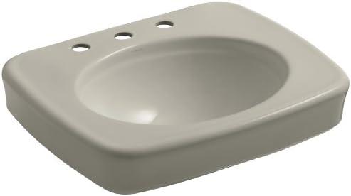 KOHLER K-2340-8-G9 Bancroft 24 Bathroom Sink Basin with Centers for 8 Centers, Sandbar