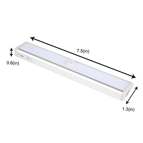 Motion Sensor Closet Lights, Stick-on Anywhere,10 LED Wireless Battery Operated Night Light for Cabinet, Closet, Stairs, Step Light,2 Pack by TDH (Image #2)