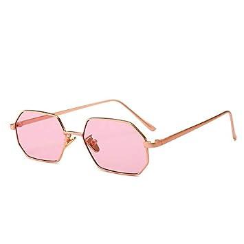 GYBTYJDD Gafas de Sol octogonales pequeñas, Gafas de Sol ...