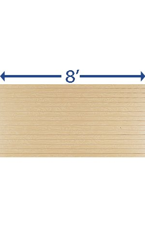 Pack of 2 New Retails Maple Horizontal Slatwall Panels - 4' x 8'