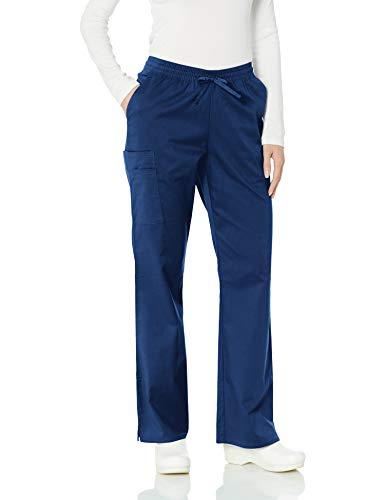 (Amazon Essentials Women's Quick-Dry Stretch Scrub Pant, Navy, Large)