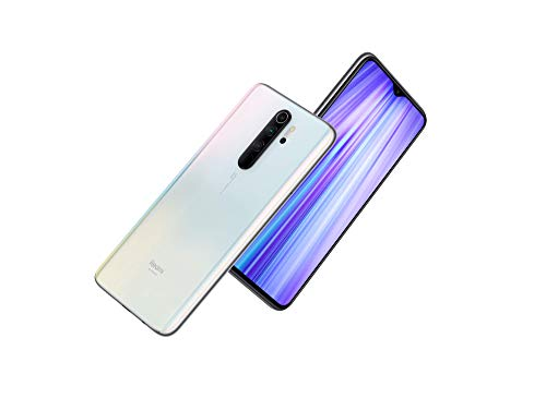 "Xiaomi Redmi Note 8 Pro (128GB, 6GB) 6.53"", Quad Camera, Helio G90T Gaming Processor, Dual SIM GSM Unlocked - US & Global 4G LTE International Version (Pearl White, 128GB + 64GB SD + Case Bundle)"