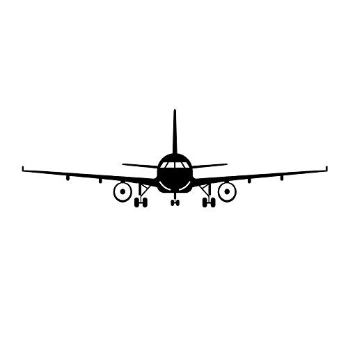 CREATIEE-PRO Military Army Cargo Airplane Aircraft Airplane Biplane Silhouette Wall Sticker Decal, Removable DIY Vinyl Plane Wall Decor Art Mural for Kids Boys Gift - Cool & Vivid