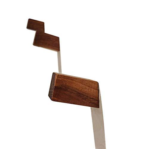 Handmade Solid Wood Hooks - Walnut or Hickory - Set of 3 ()