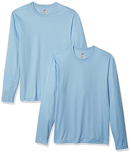 Hanes Men's Long Sleeve Cool Dri T-Shirt UPF