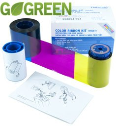Sp35 Card Printer Accessories (Datacard Go Green YMCKT Color Ribbon Kit - 250)