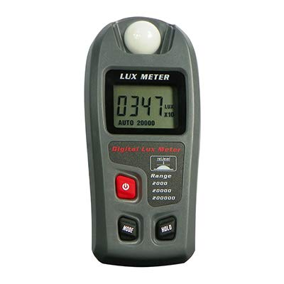 Leaton Digital Luxmeter/Digital Illuminance Light Meter lux meter with LCD Display(Range: 0.1~200,000 Lux Luxmeter, 0.01~20,000Fc)