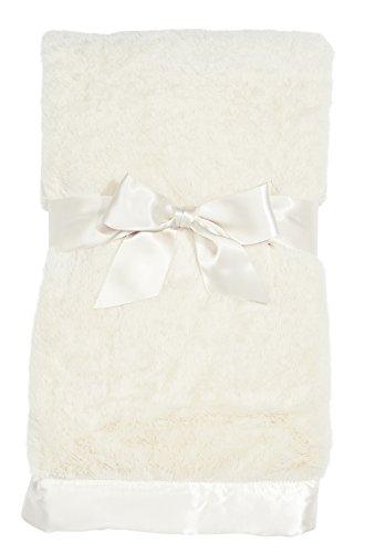 "Bearington Baby Large Silky Soft Crib Blanket (Cream) 36"" x 29"""