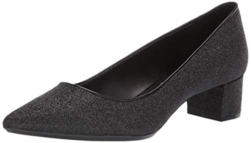 Calvin Klein Women's Genoveva Pump, Black Dusty Glitter, 8 M US