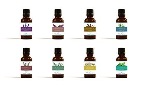 Essential Oil Set – 100% Pure & Natural Oil - 8 Pack (Lavender, Clove, Rosemary, Yarrow, Clary Sage, Juniper, Eucalyptus, Peppermint) - Best use for Aromatherapy, Massager, Body & Hair ()