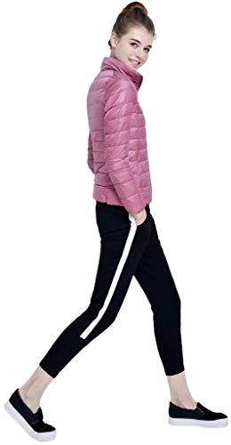 Debout Uni Poches Doudoune Hiver Manche Blouson Longues Manches Quilting Femme Col Lat Chaud qqBnTw8X