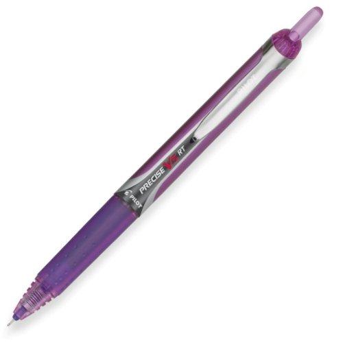 Extra Fine Purple Ink (Pilot  PRECISE V5RT Rolling Ball Pen)
