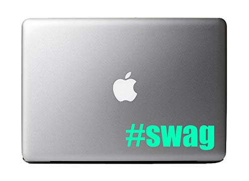 BYRON HOYLE Swag Hashtag Vinyl Decal Sticker Skin for Apple MacBook Pro Air Laptop iPad ()