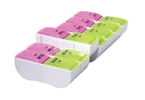 Carex Health Brands 7-Day AM-PM XL Detach N' Go Pill Organizer by Carex Health Brands
