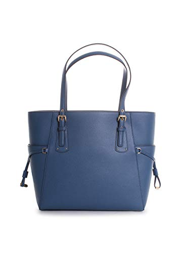 Michael Kors Voyager East West Leather Tote Handbag in Dark Chambray by Michael Kors (Image #2)