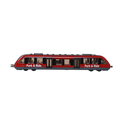 (LIUFS-Alloy Car Train High-Speed Rail Passenger Car City Iron Subway Zinc Alloy Model Simulation Children Toy ( Color : Red ))