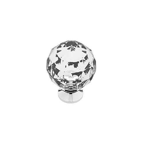 Franklin Brass 3250678-CHC-KT Acrylic Faceted Kitchen Cabinet Hardware Knob, 1-3/16'', 5 pack, Chrome and Clear by Franklin Brass (Image #4)