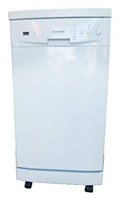 "SOLOROCK 18"" Stainless Steel Portable Dishwasher - White"