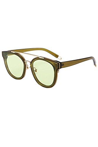 Gran Sol Gafas Tamaño Vintage De UV400 Las De Mujeres Para Verde XEwxqFRS