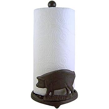 Amazon Com Cast Iron Cow Paper Towel Holder 13 Inch