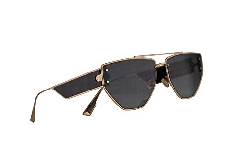 Christian Dior DiorClan2 Sunglasses Gold Black w/Grey Lens 61mm J5G1I Clan 2 Clan2