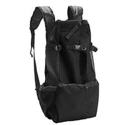 Dog Carrier Pet Shoulder Traveler Backpack Dog Outcrop Bags Ventilation Breathable Washable Outdoor Bicycle Hiking Backpack,Black,L