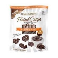 Pretzel Crisps - Minis Gluten Free Dark Chocolate Flavored Crunch, 5.5 Ounce -- 12 per (Chocolate Dip Ice Cream)