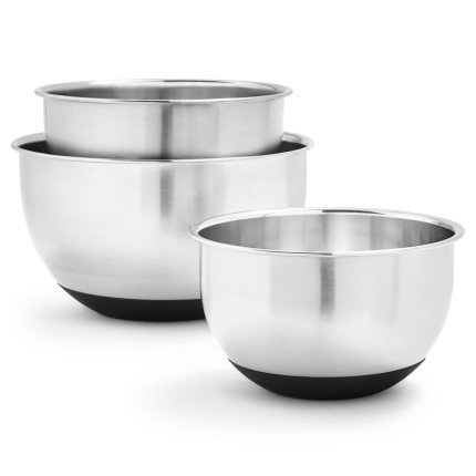 Sur La Table Non-Skid Stainless Steel Mixing Bowls KF-KF-150904SSL , Set of 3 by Sur La Table