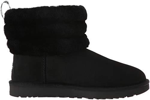 Mini Black En Gris Bottes Quilted Daim Charcoal Fluff Ugg qwzCf5S7