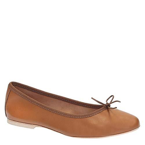 6087brown Pelle Marrone Ballerine Shoes Donna Leonardo RIw8tqw