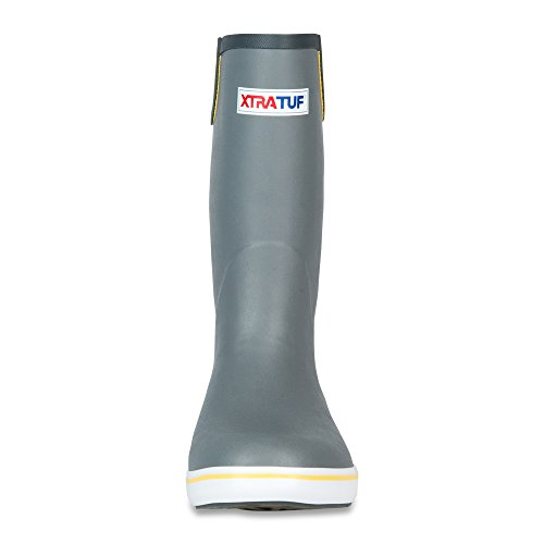 XTRATUF Performance Series 12'' Men's Full Rubber Deck Boots, Gray & Yellow (22712) by Xtratuf (Image #2)